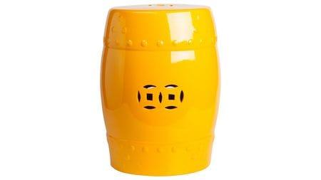 Керамический столик-табурет Garden Stool Желтый