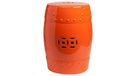 Керамический столик-табурет Garden Stool Оранжевый