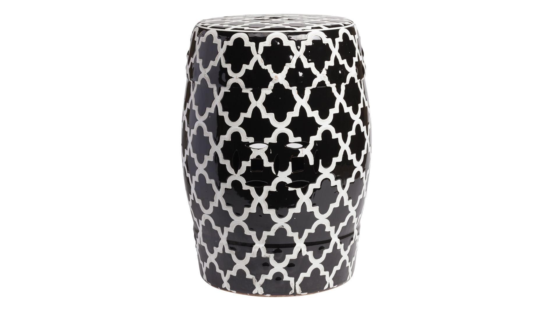Керамический столик-табурет Istanbul Stool Black