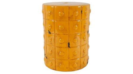 Керамический столик-табурет Mustard Stool Orange
