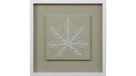 """Панно для декорирования стен """" Листья из бисера1 """" 60*60 см."""