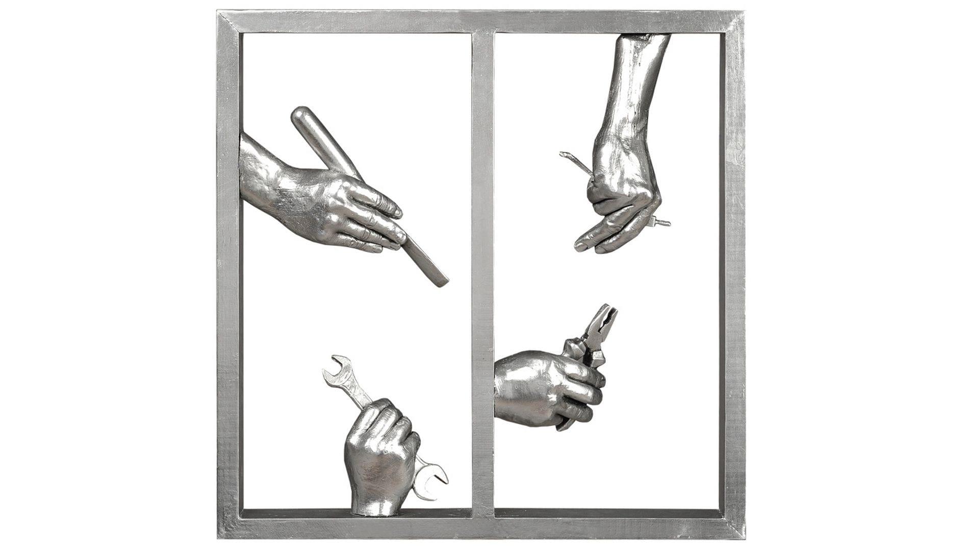 """Панно для декорирования стен """" Руки """" 60*60 см."""