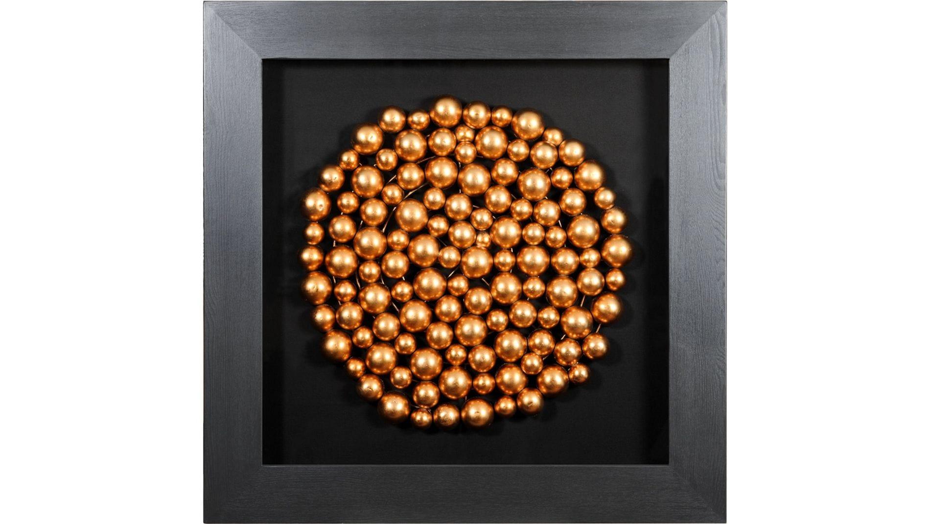 """Настенное панно """" Медные шары (круг) """" 90*90 см."""