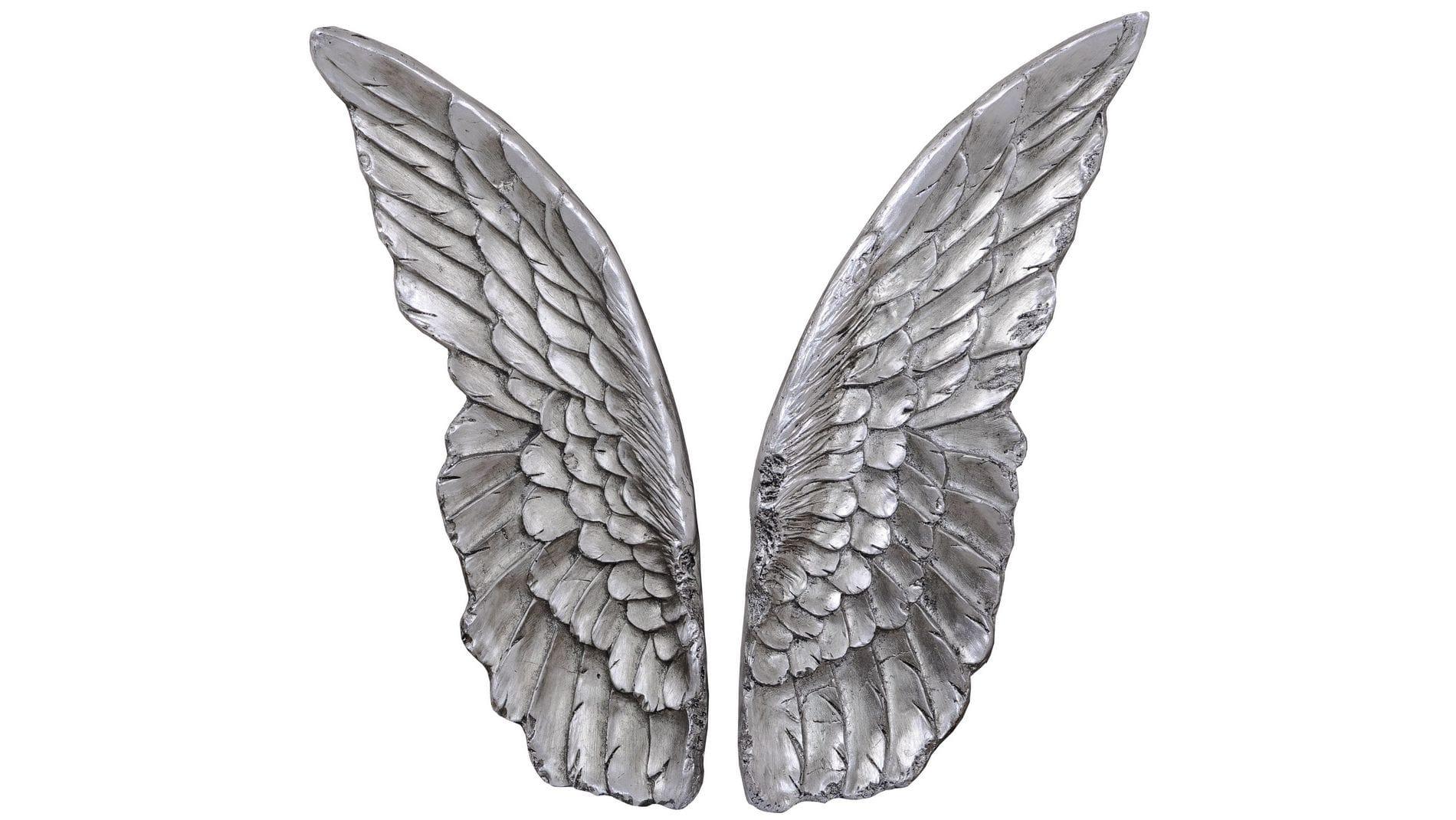 """Панно на стену """" Крылышки (серебро) """" 37*53 см."""