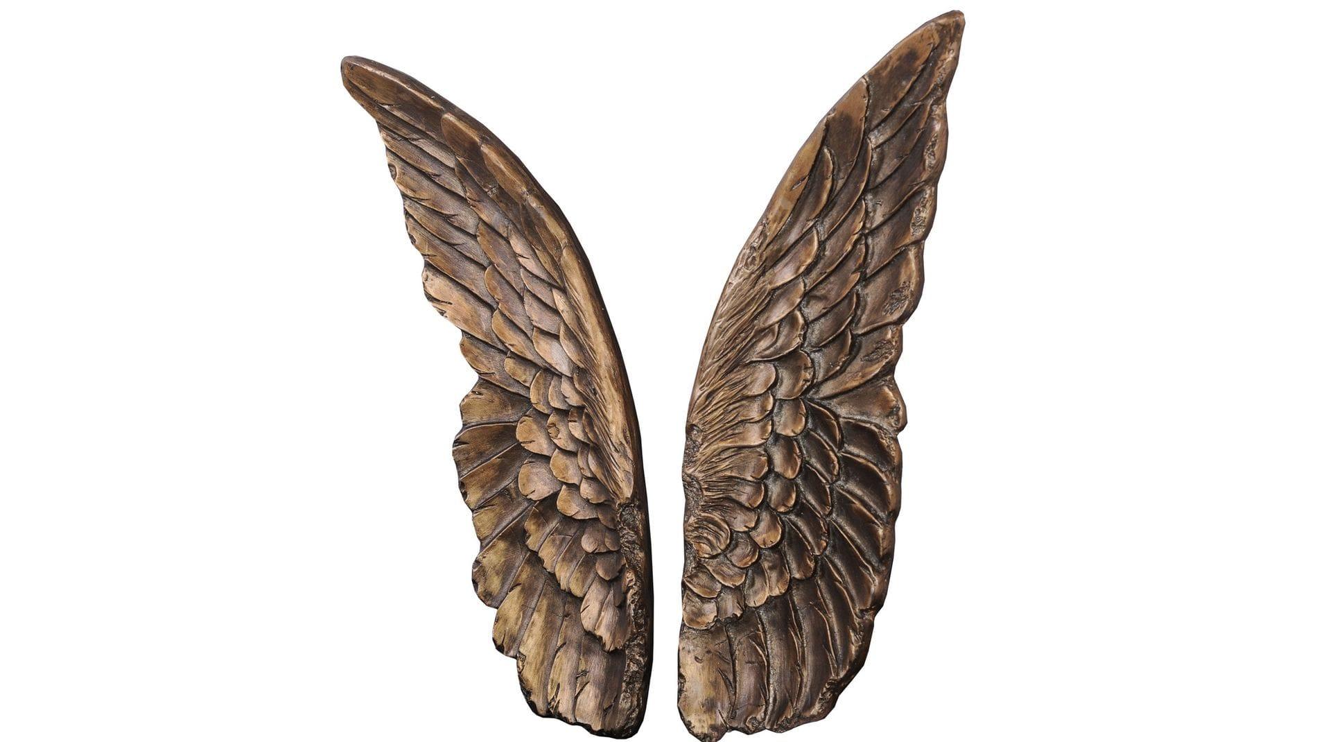 """Настенное панно """" Крылышки (бронза) """" 37*53 см."""
