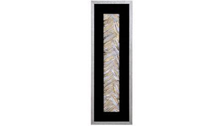 """Панно для декорирования стен """" Переливы 3 рама серебро """" 30*90 см."""