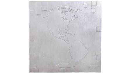 """Панно для декорирования стен """" Карта мира 2 """" 90*90 см."""