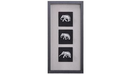"""Панно на стену """" Индийские слоны 1 """" 30*60 см."""