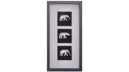 """Настенное панно """" Индийские слоны 2 """" 30*60 см."""