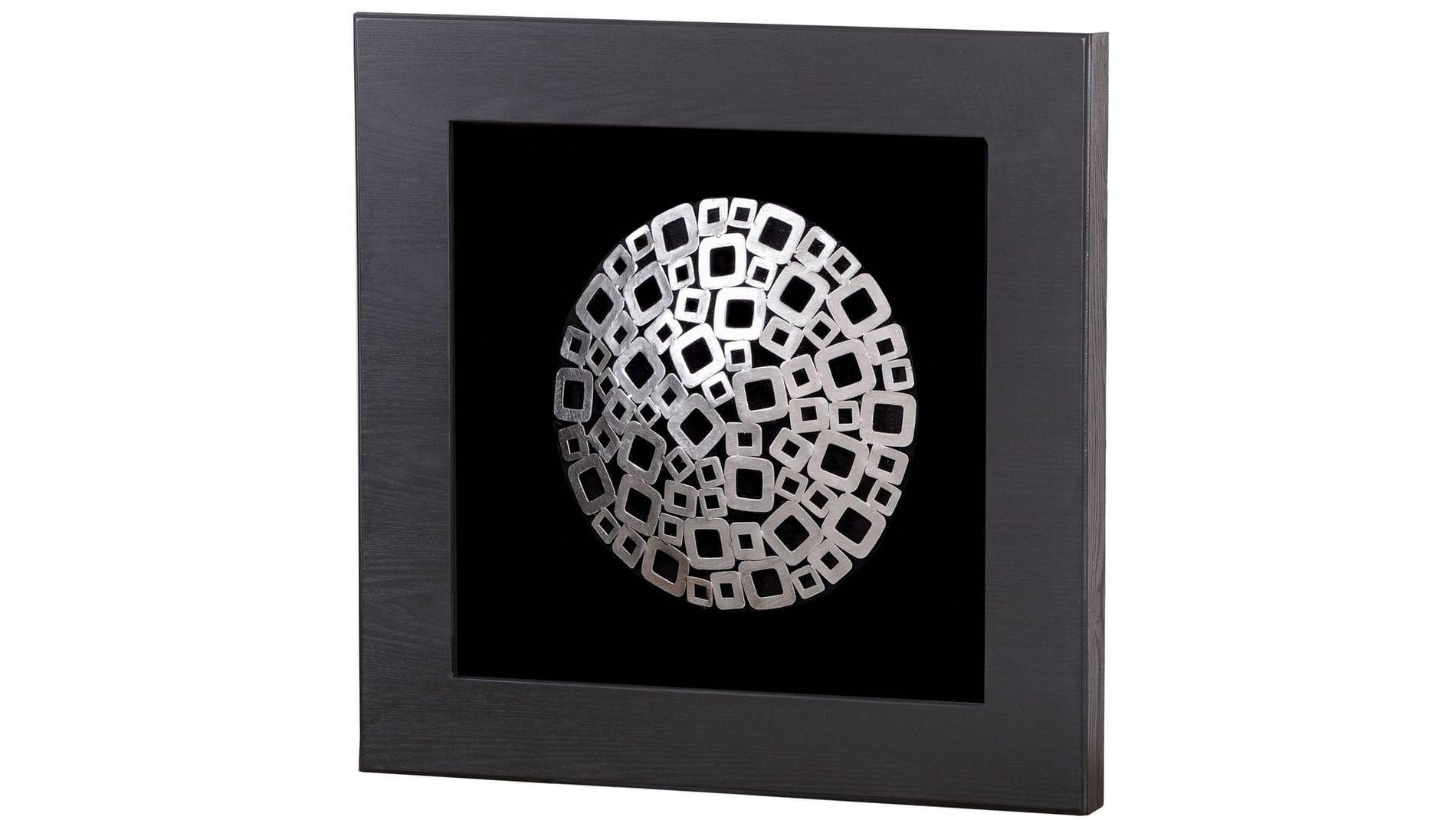 """Панно на стену """" Металлические квадраты """" 60*60 см."""
