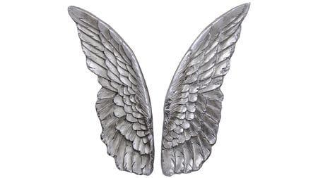 """Панно на стену """"  Крылья серебро """" 103*75 см."""