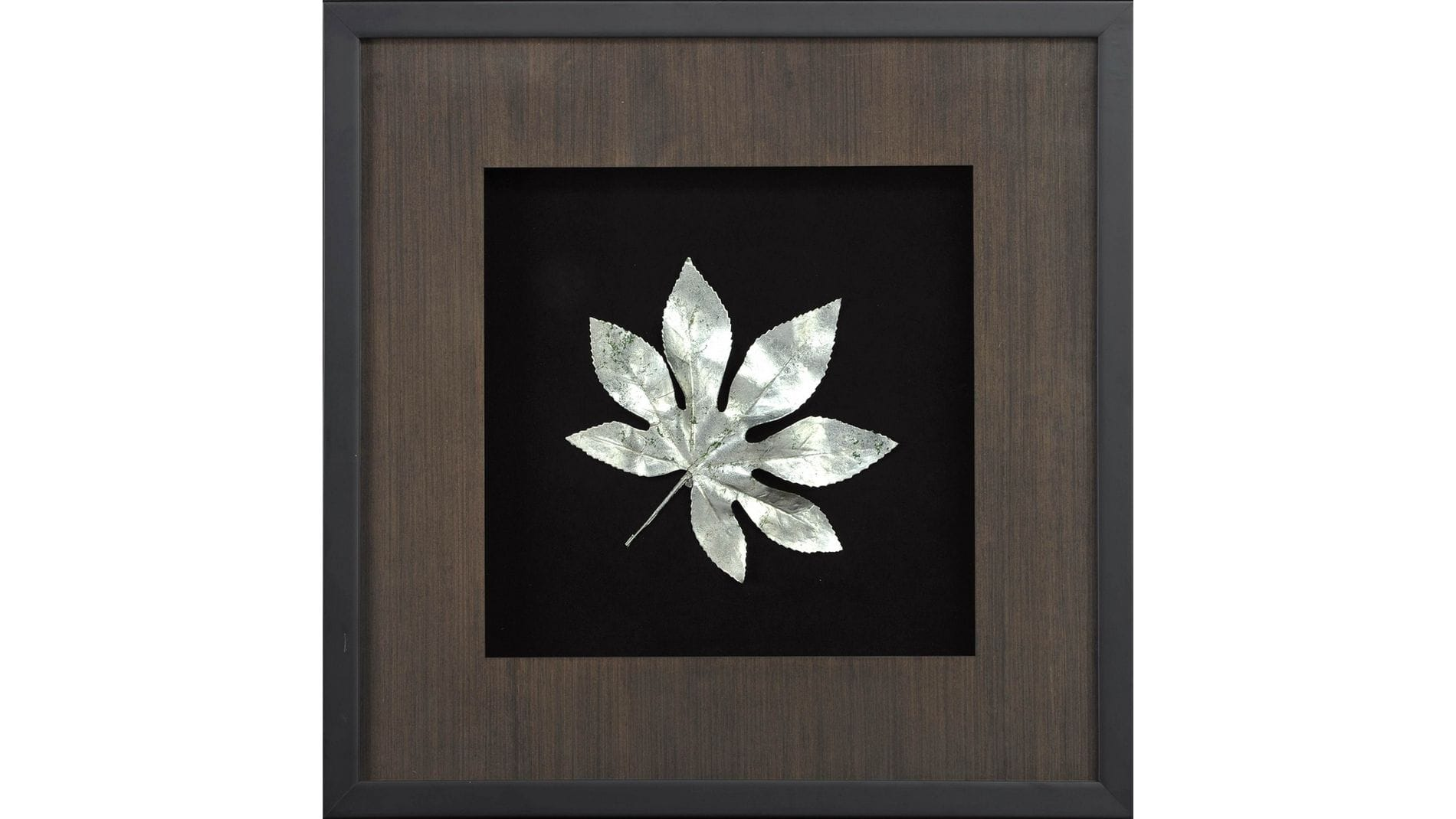 """Настенное панно """" Большие листья 4 """" 50*50 см."""
