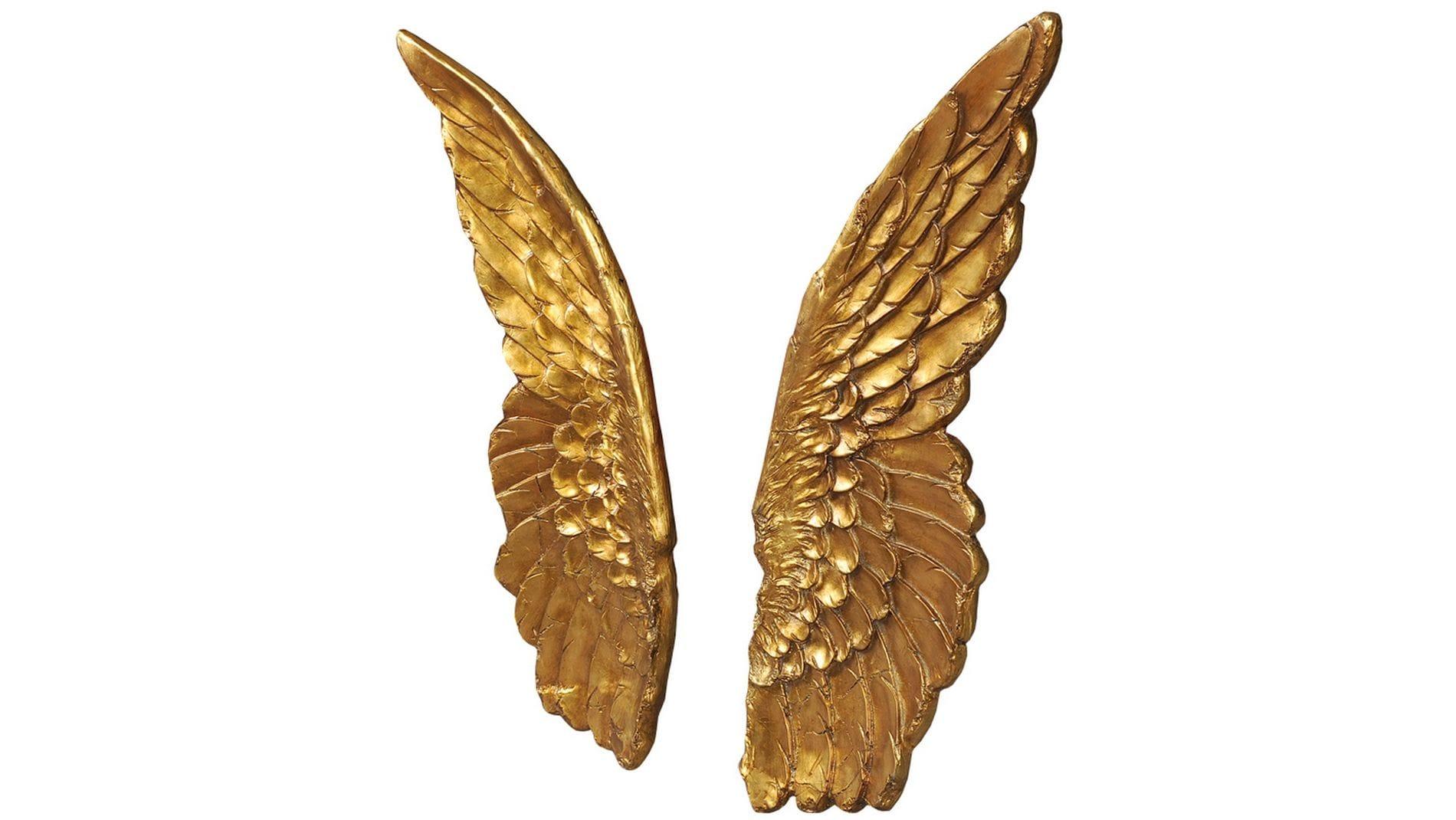"""Панно для декорирования стен """" Крылья золотые """" 103*75 см."""
