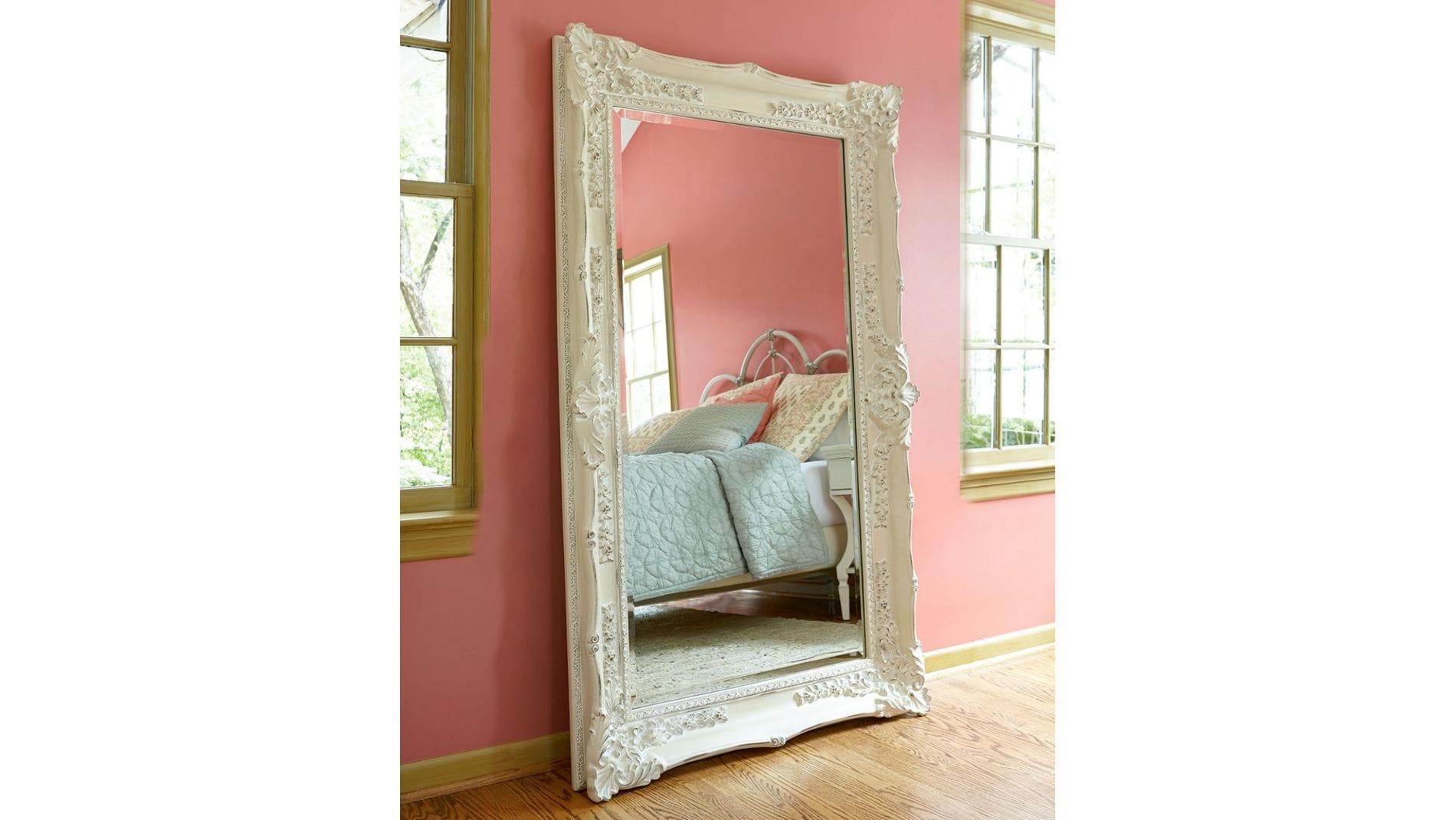 "Зеркало в раме ""Ла-Манш"" Distressed Chalk White/RA9"