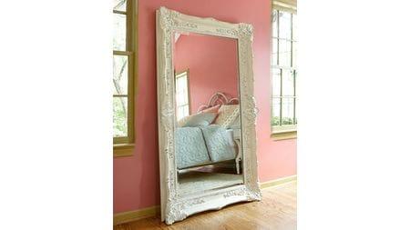 Зеркало в раме Ла-Манш Distressed Chalk White/RA9