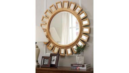 Зеркало в круглой раме Эштон Gold