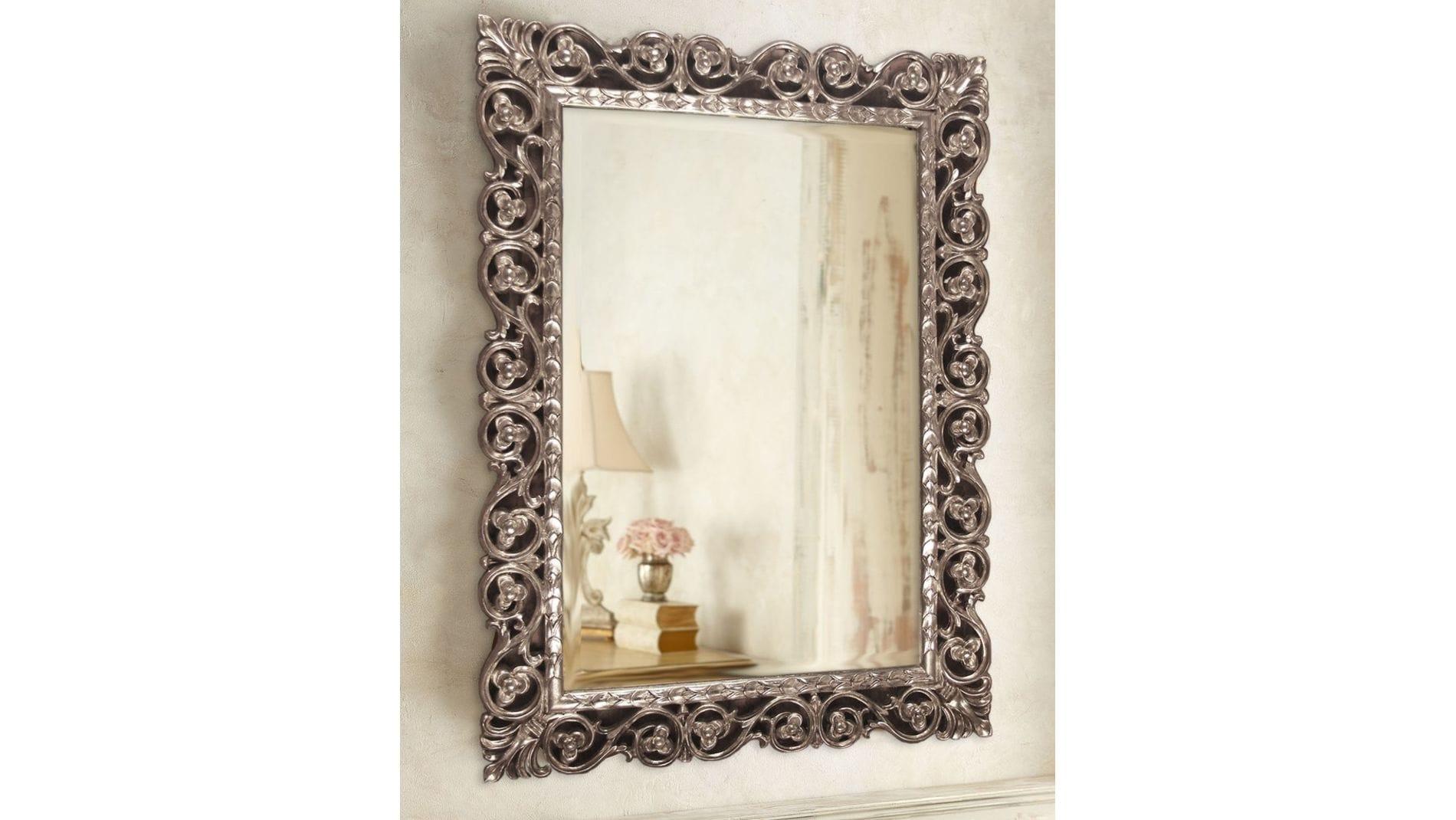 "Зеркало в раме ""Бергамо"" Florentine Silver/19"