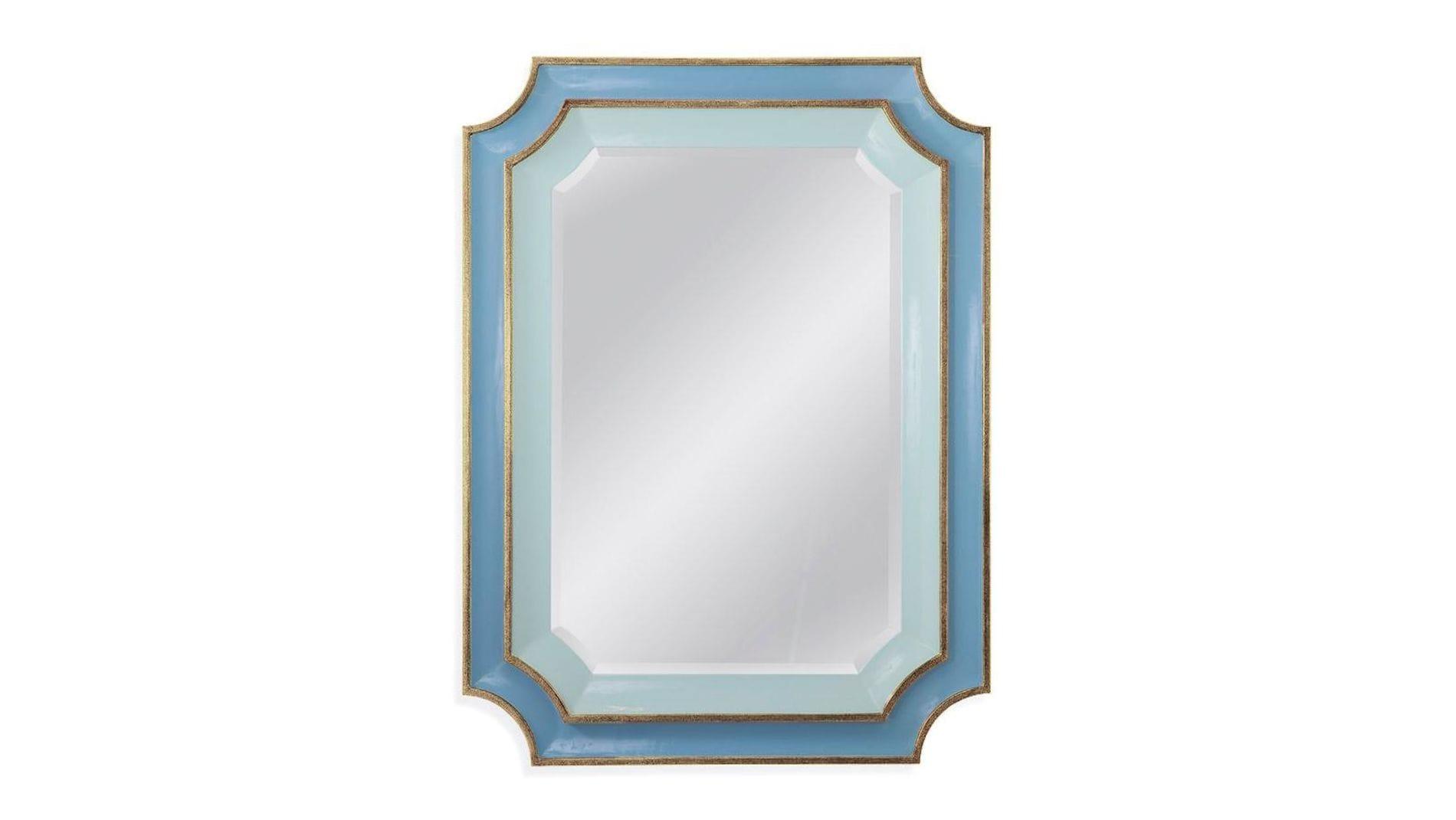 """Зеркало в раме """"Кьяра"""" Sky Blue"""
