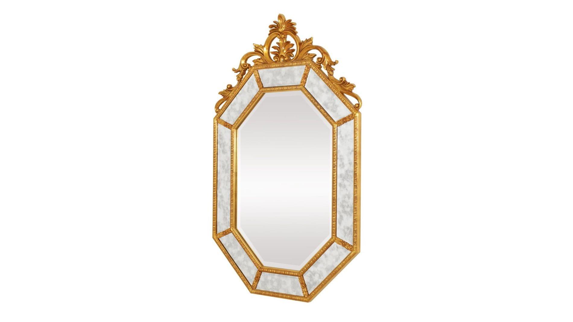"""Зеркало в раме """"Лидс"""" 19C. Gold/02"""