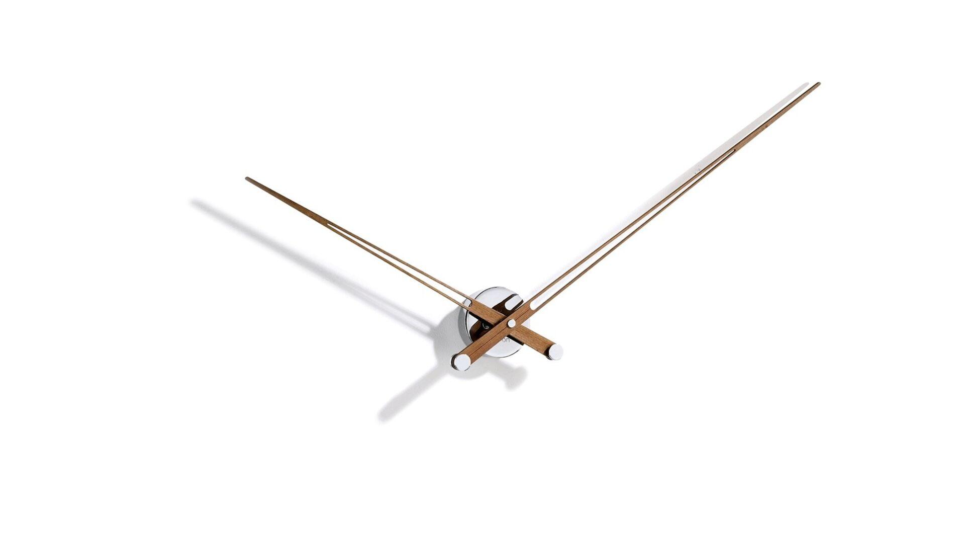 Часы Nomon AXIOMA N, chrome/walnut, d=105см