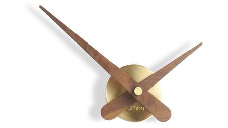 Часы Nomon MINI AXIOMA GOLD N, полированная латунь/орех, d=37см