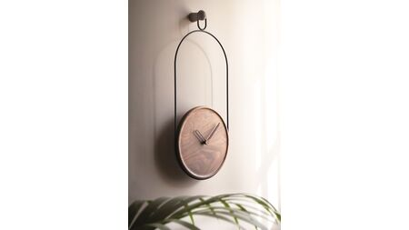 Часы Nomon ESLABON black/walnut, D=30cm, L=68cm