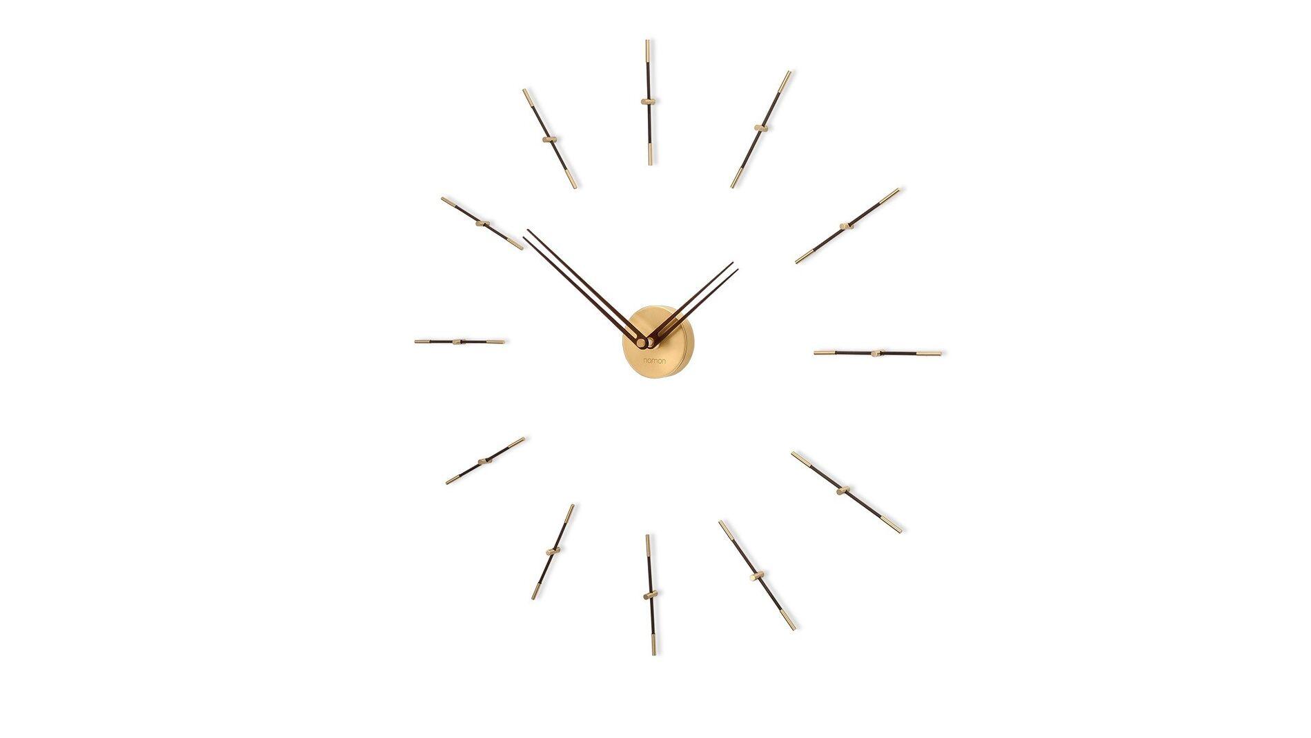 Часы Nomon MERLIN MINI 12 GOLD WALNUT, 70CM
