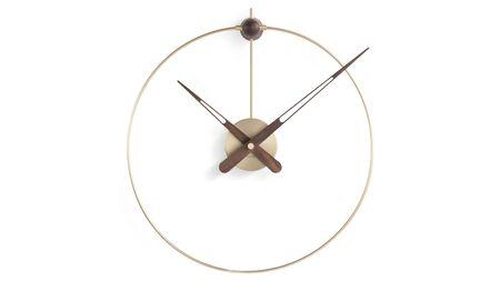 Часы Nomon Micro Anda Gold, gold/walnut, d=40/50 см