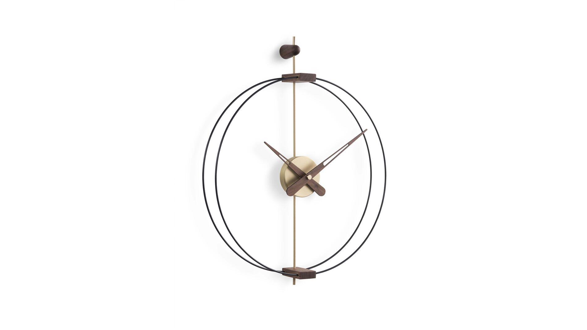 Часы Nomon Micro BARCELONA gold/walnut d42, h54 cm