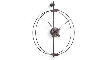 Часы Nomon Micro BARCELONA graphite/walnut d42, h54 cm