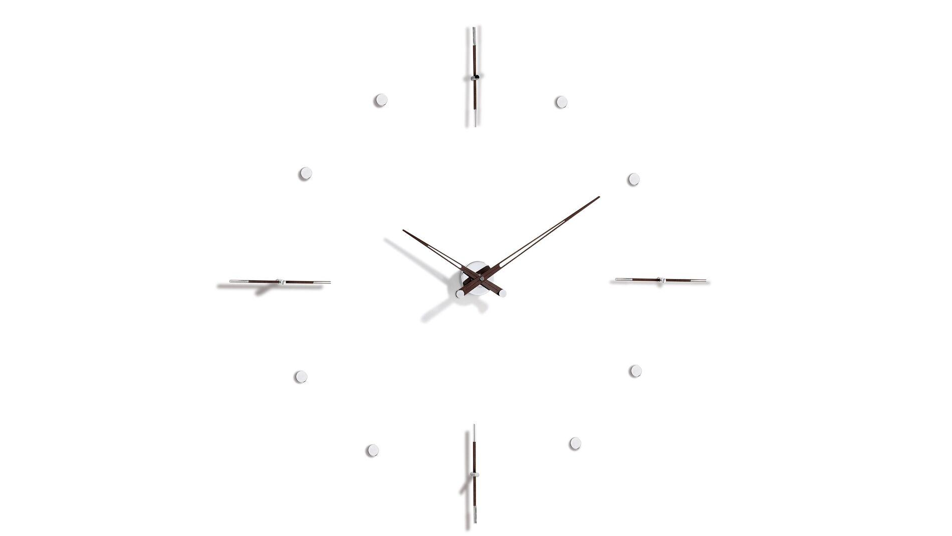 Часы Nomon MIXTO N 125 WENGE/CHROME, d=125см
