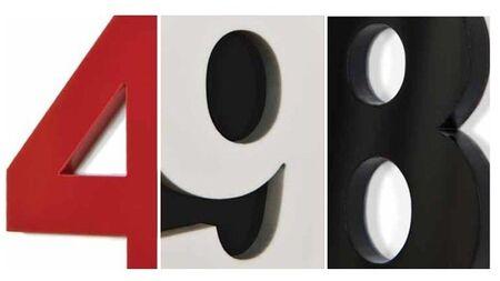 Комплект арабских цифр (1-12) для часов Nomon, белый пластик