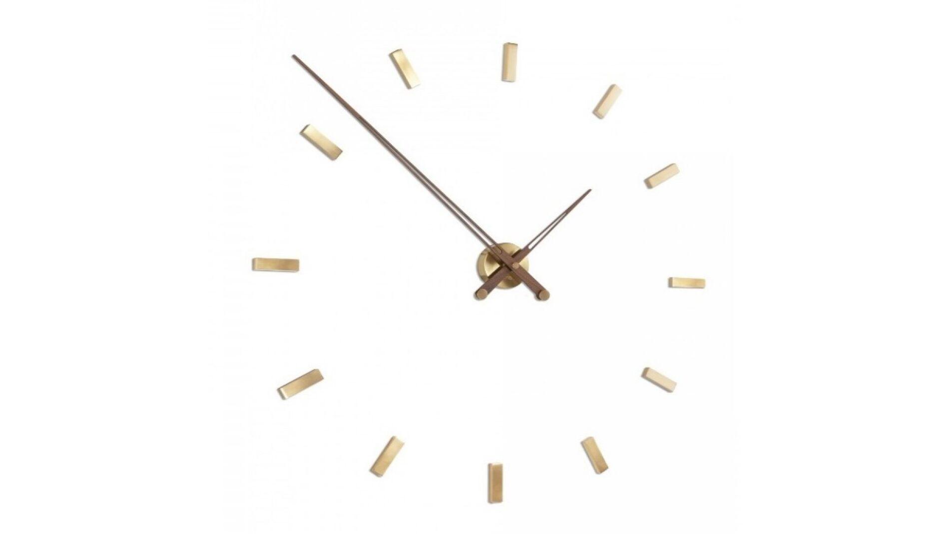 Часы Nomon Tacon 12 Gold N, walnut, d=100см