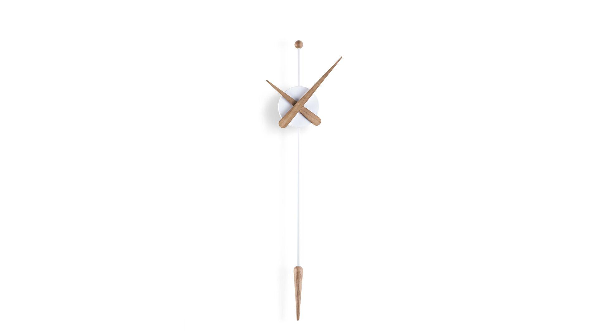 Часы Nomon Punta white/oak d28, h63 cm
