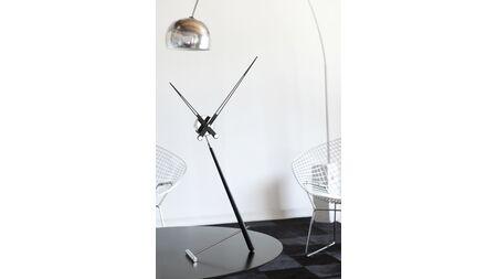 Часы Nomon Puntero L BLACK, хром/черный лак, D=74 см.