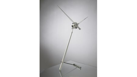 Часы Nomon Puntero L WHITE, хром/белый лак, D=74 см.