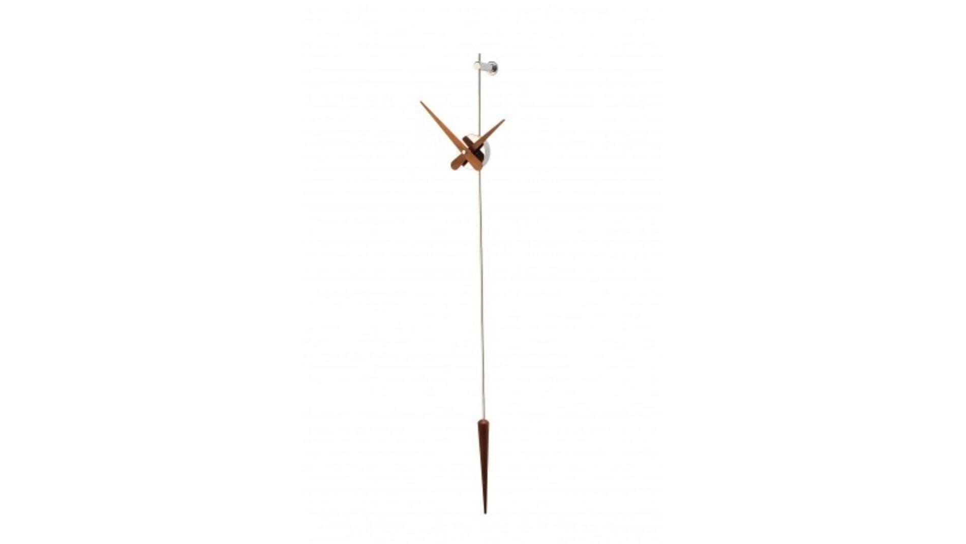 Punto y Coma N (хром/венге), h=113cm., часы настенные Nomon