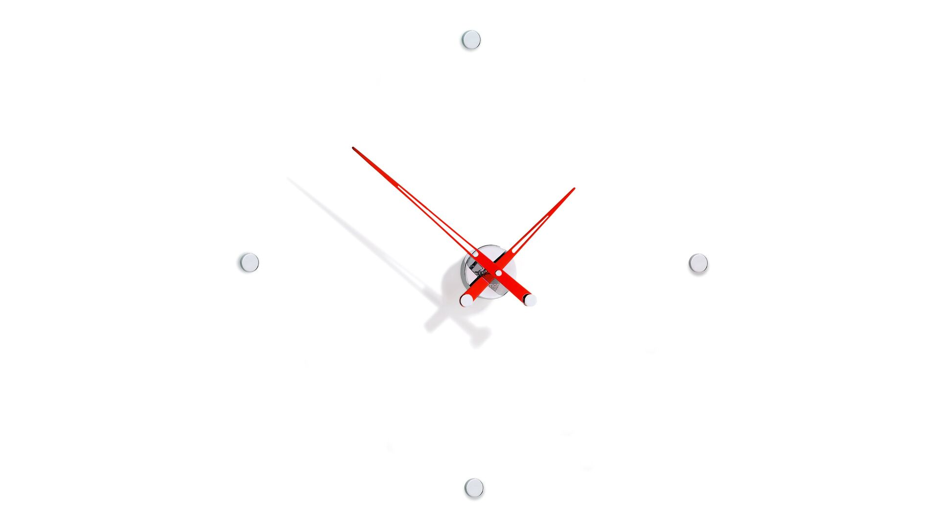 Часы Nomon Rodon 4 i RED, chrome, d=70 см