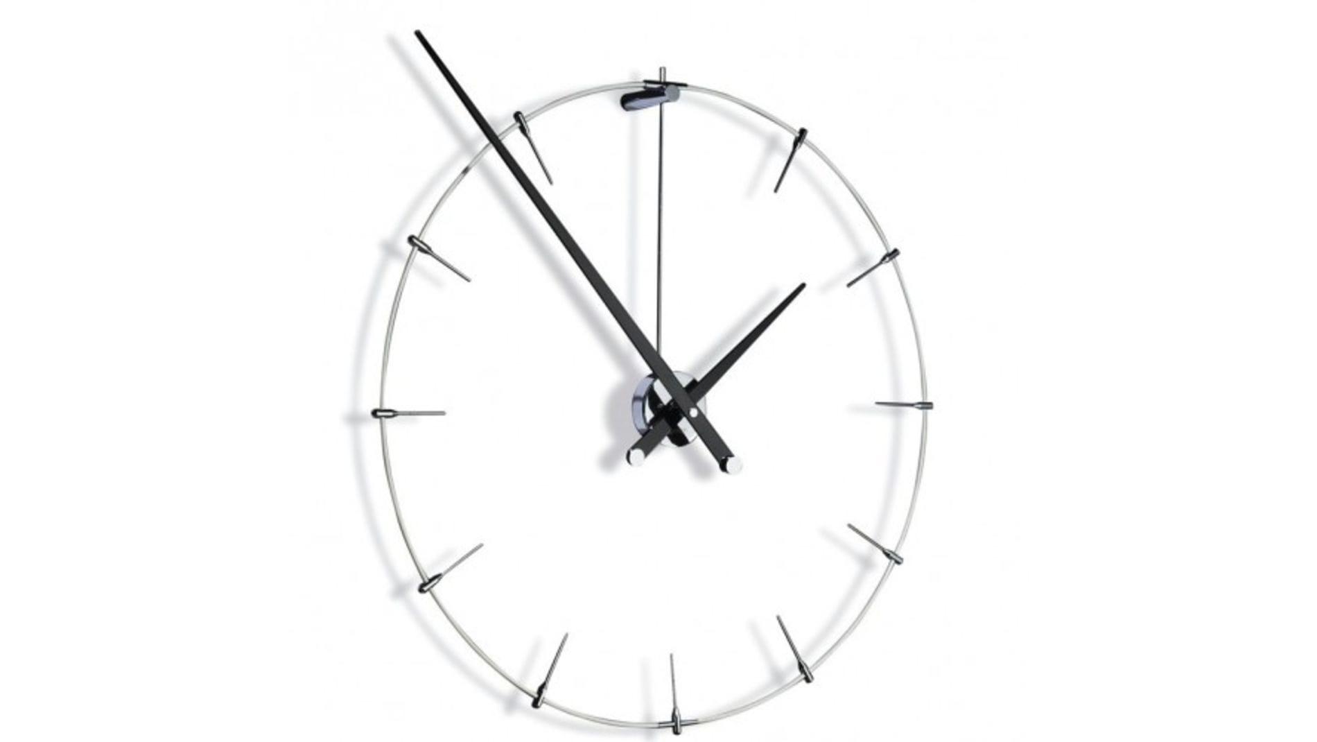 Часы Nomon Anda Gothic, chrome/black, d=100 см