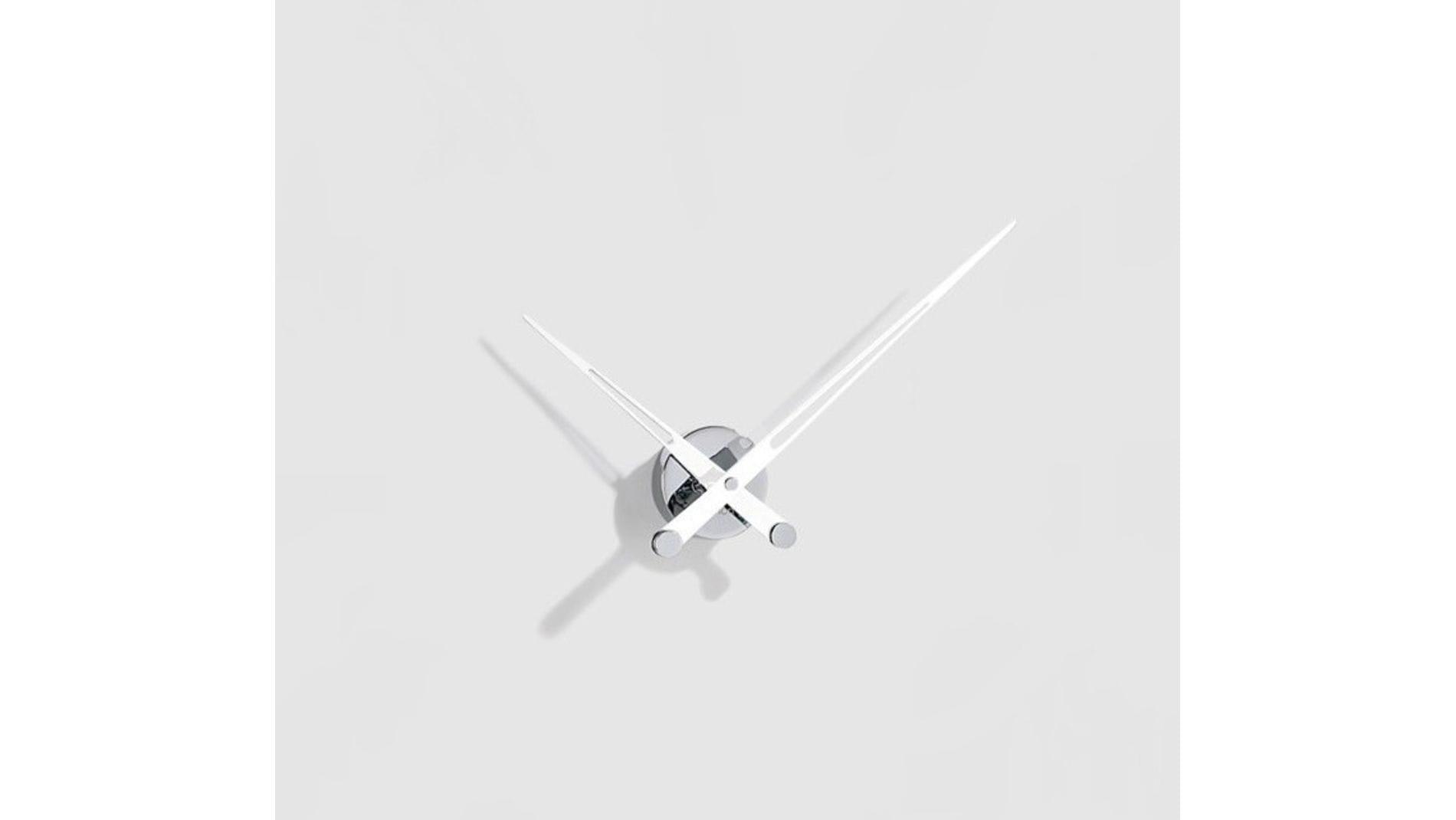 Часы Nomon Axioma i WHITE, d=60см, база: хром, стрелки: нерж. сталь, белые