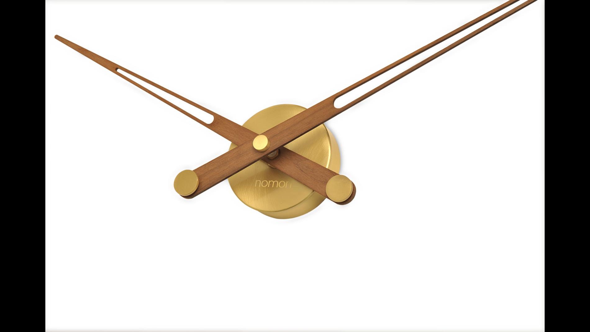 Часы Nomon AXIOMA GOLD N, полированная латунь/орех, d=74см