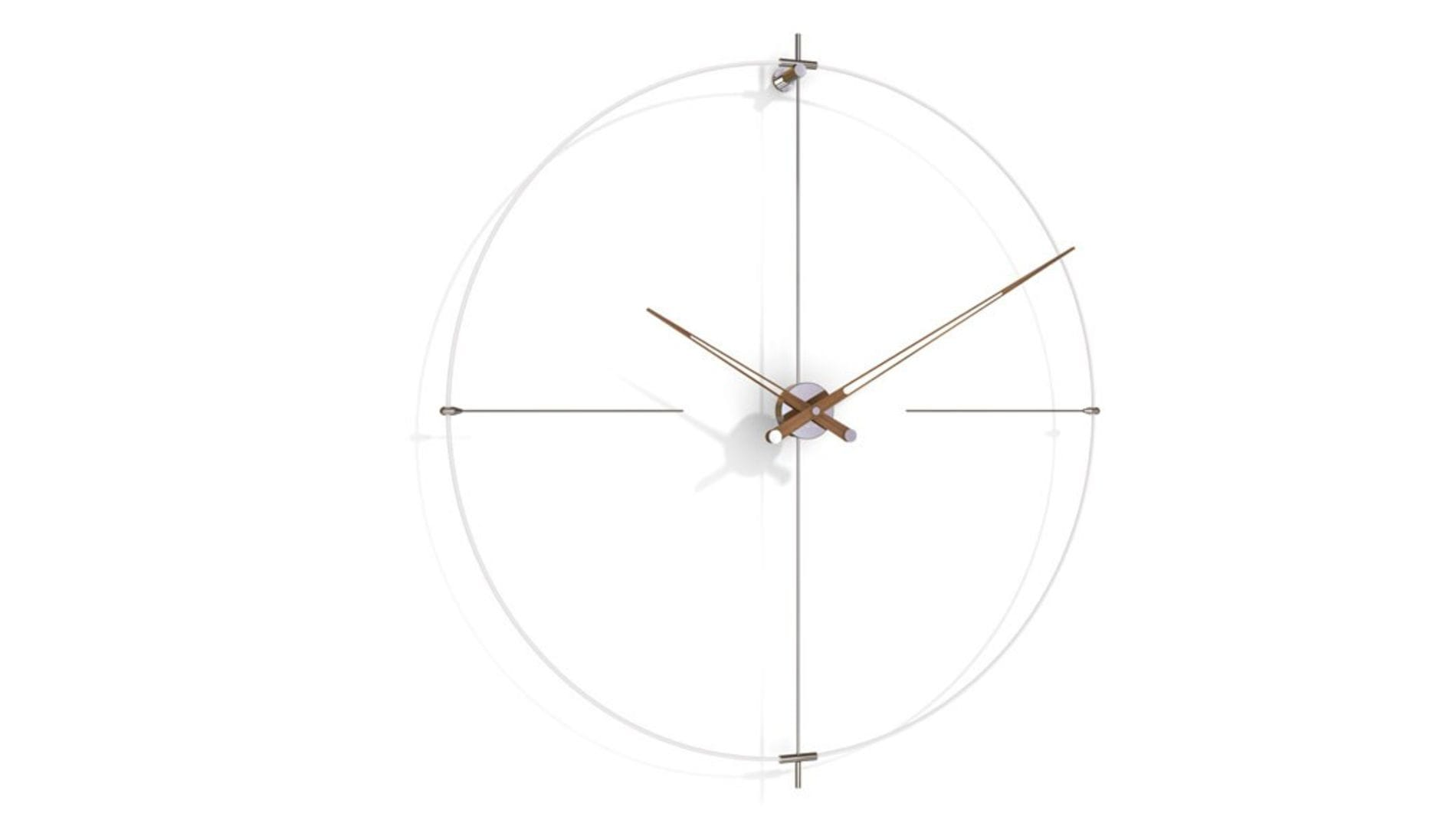 Часы Nomon BILBAO N(white/walnut), d=110см