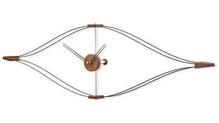 Часы Nomon Look, 140x45CM, орех