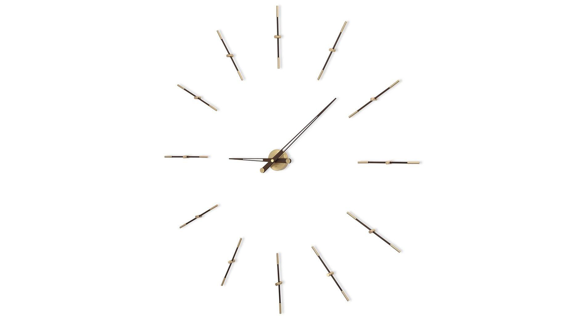 Часы Nomon MERLIN 12 GOLD N 155 Wenge/GOLD, d=155см