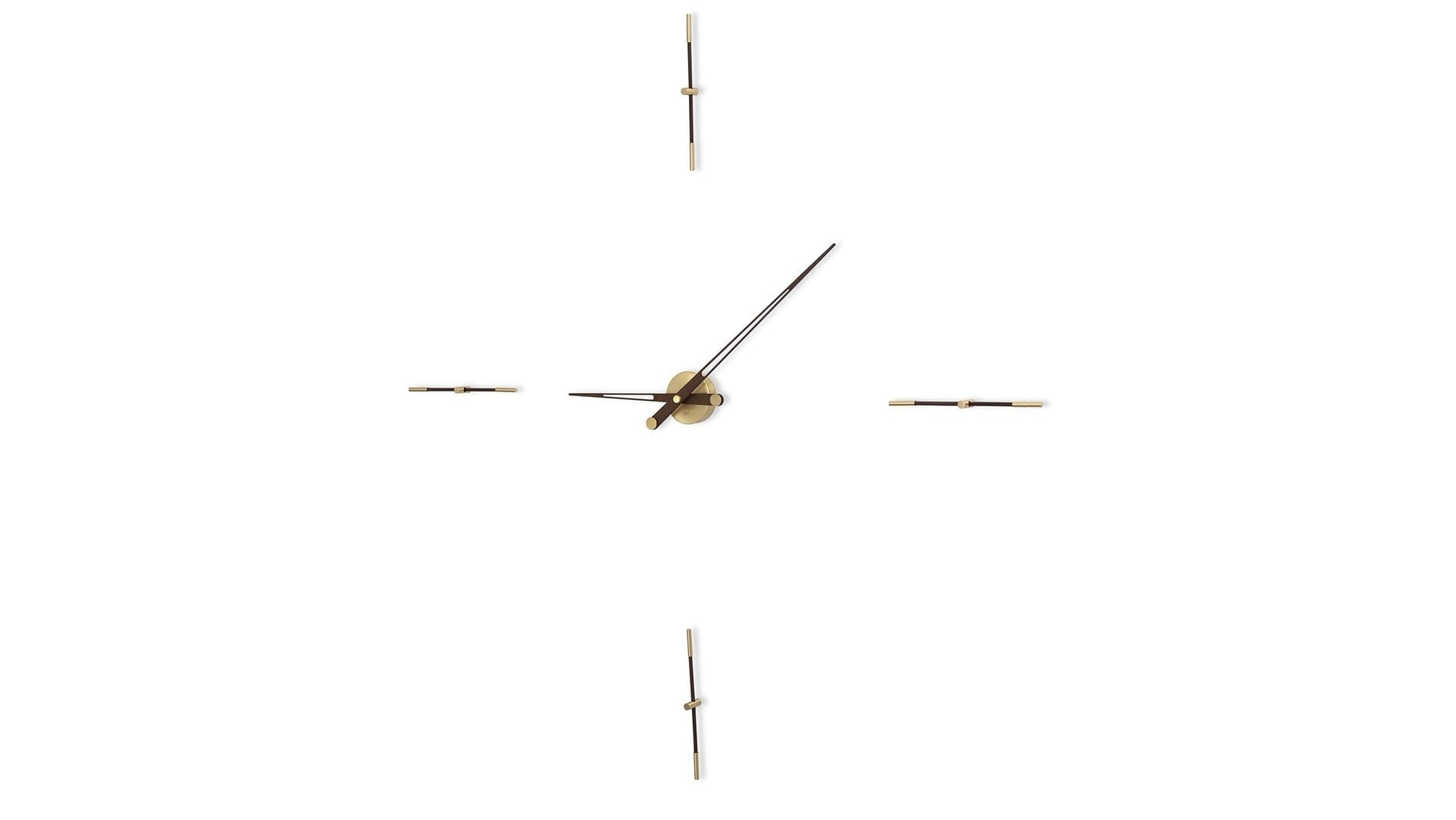 Часы Nomon MERLIN 4 GOLD N 155 WENGE/GOLD, d=155см