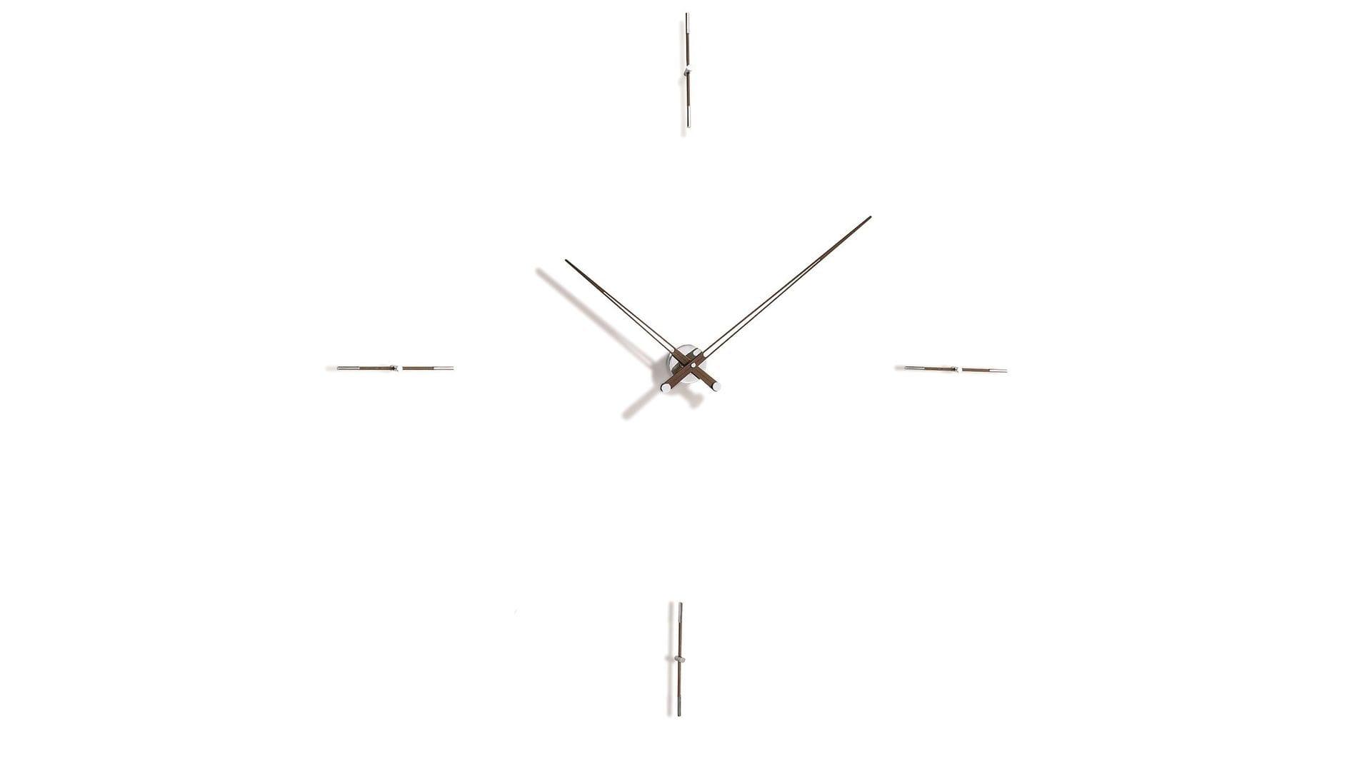 Merlin 4 N 125, wenge/chrome, Nomon(Испания), часы настенные, d=125cm, мех-м UTS