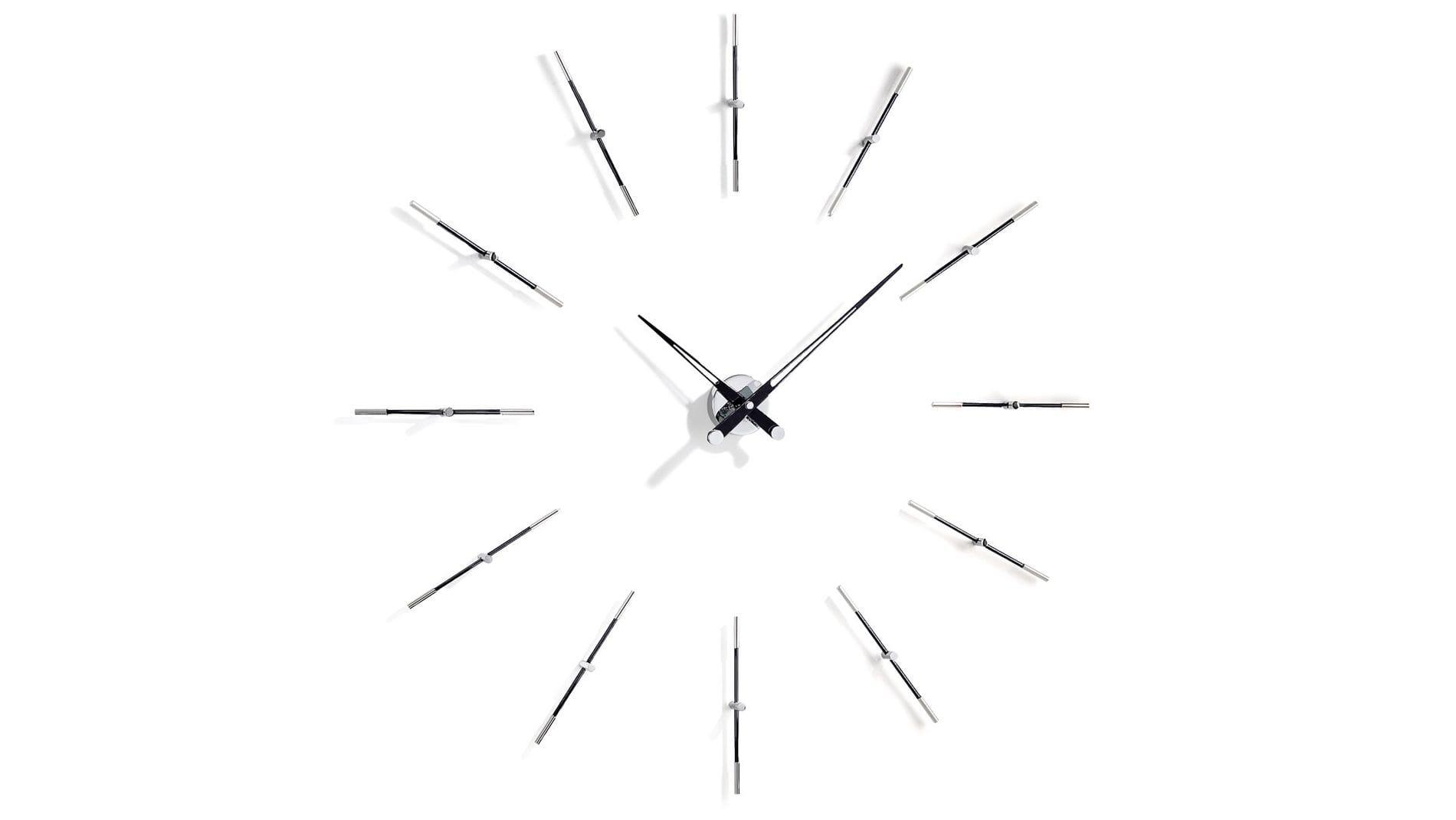 Merlin 12 i BLACK, Nomon(Испания), часы настенные, d=110cm, мех-м UTS