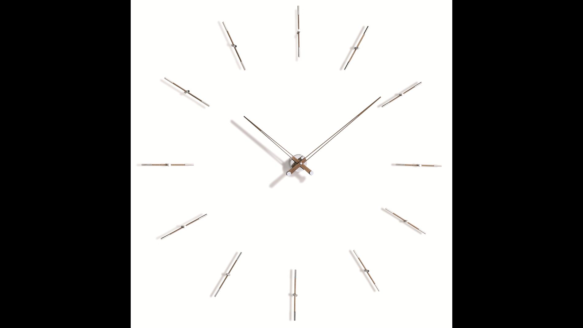 Часы Nomon MERLIN 12N 125 WALNUT/CHROME, d=125см