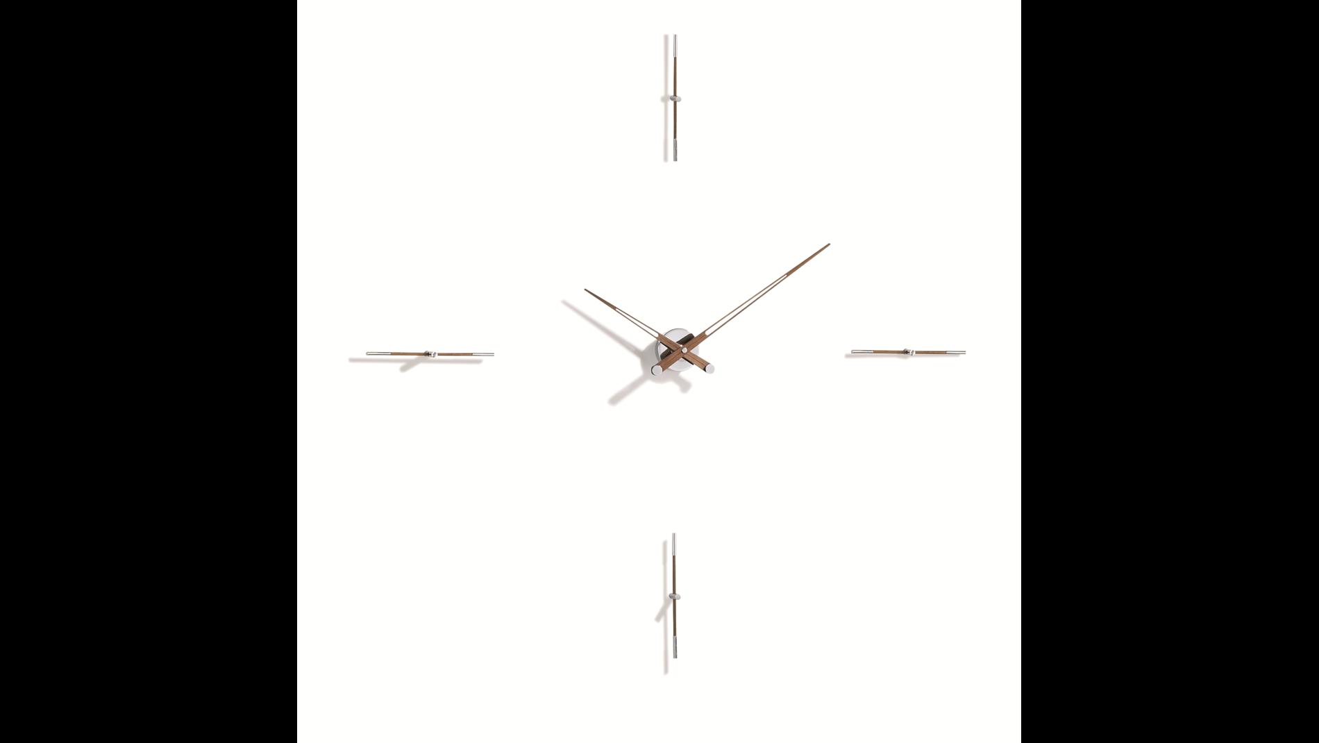 Часы Nomon MERLIN 4 N 155 WALNUT/CHROME, d=155см