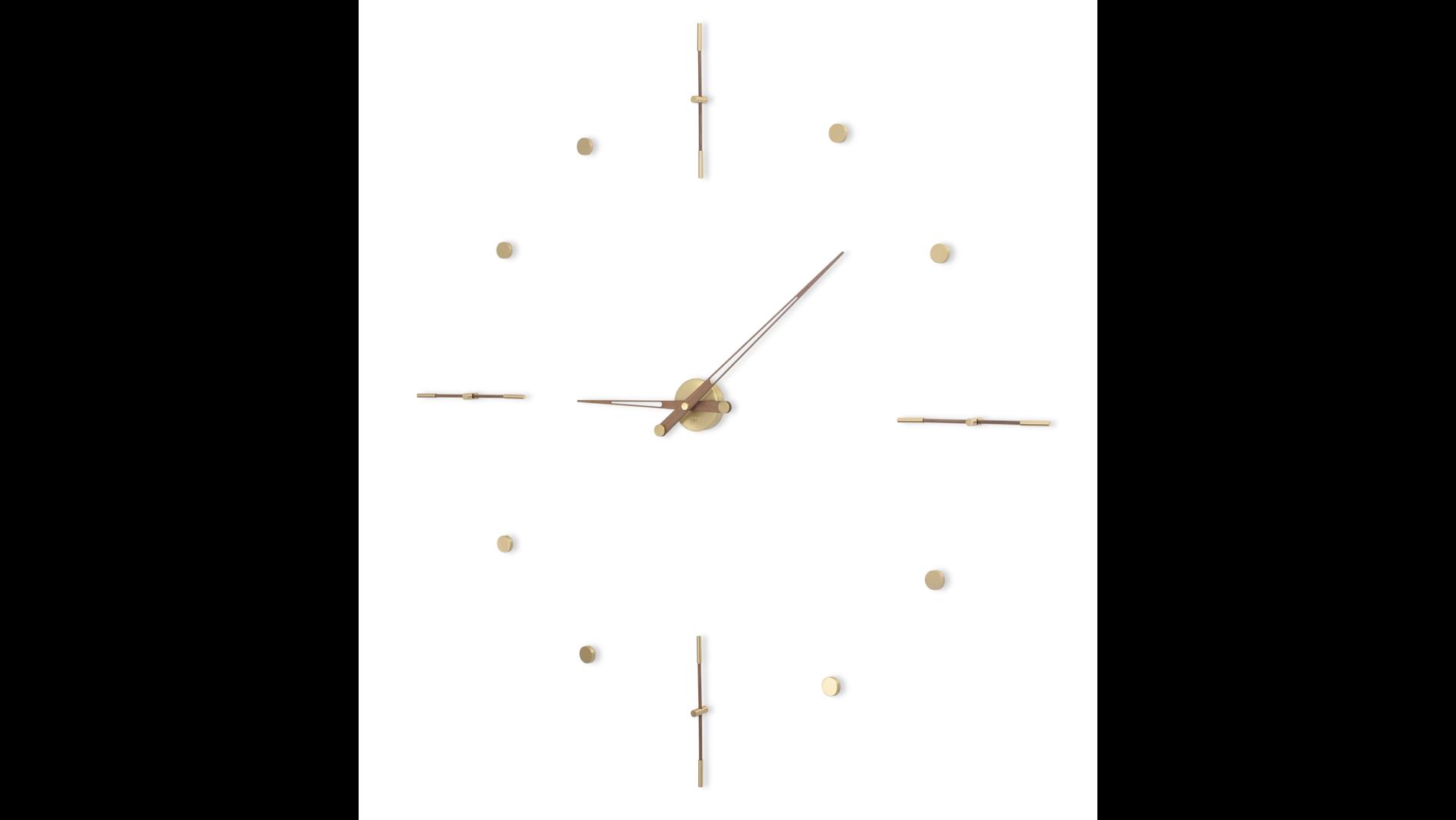 Часы Nomon Mixto Gold N 125, полированная латунь/орех, d=125cm.